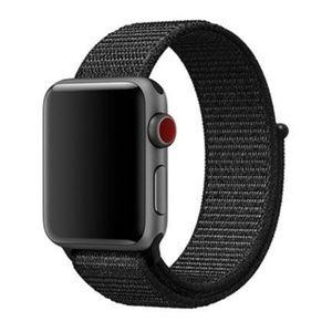 ❤️NEW Black Sport Loop Strap For Apple Watch